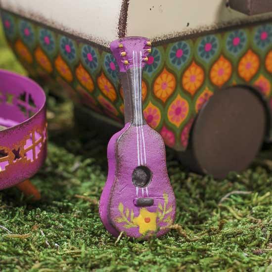 Miniature Hippie Guitar Fairy Garden Supplies