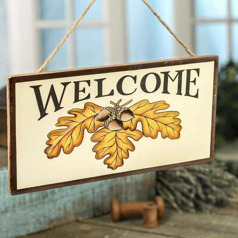 Fall Wood Welcome Sign