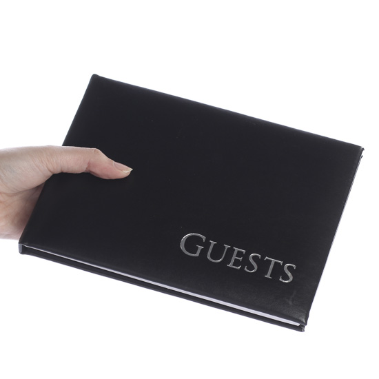 Wedding Gift Record Book: Black Guest Registry Book