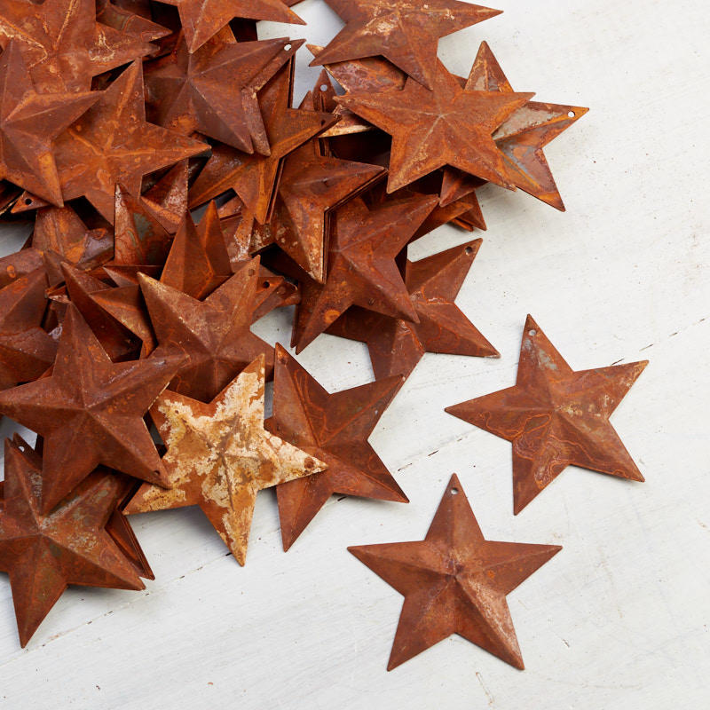 2 1 4 Quot Small Rusty Metal Stars Basic Craft Supplies