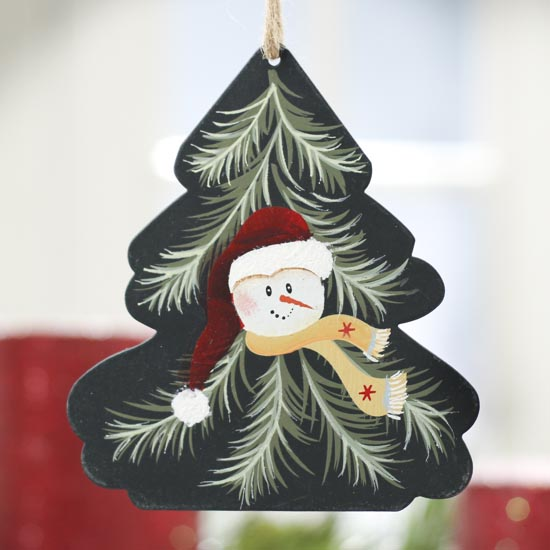 Snowman christmas tree ornament signs ornaments home
