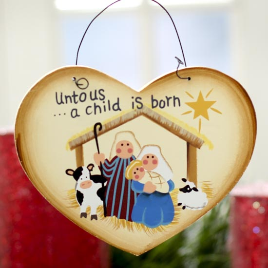 """A Child is Born"" Christmas Nativity Ornament - Christmas Ornaments - Christmas and Winter ..."