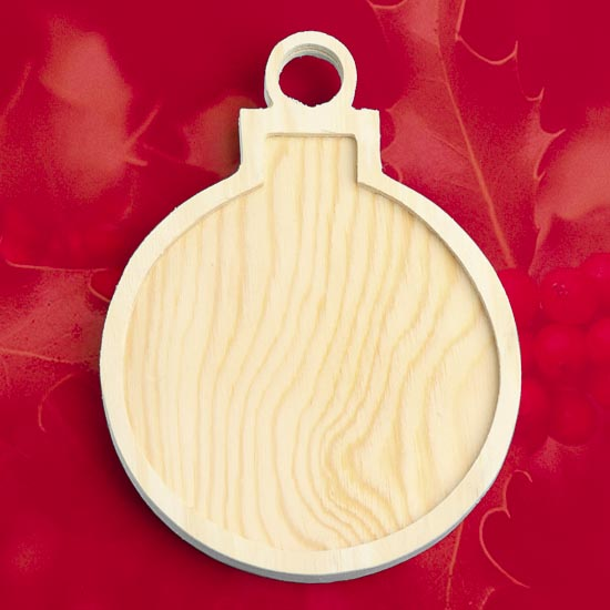 Unfinished Wood Christmas Ornament With Inlay Wood