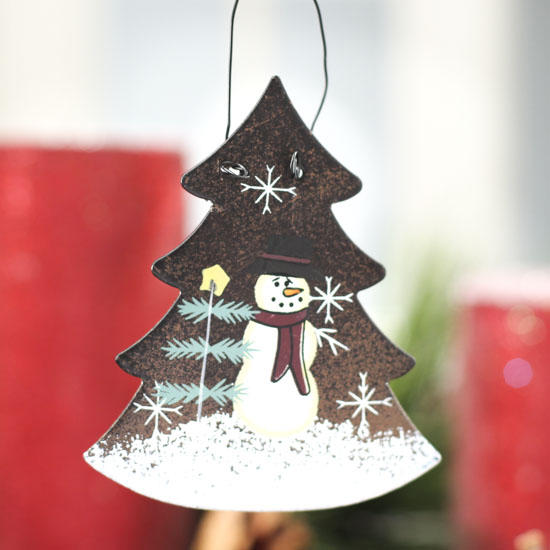 click here for a larger view - Primitive Christmas Tree Ornaments