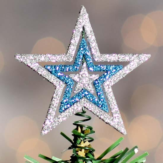 miniature glitter star tree topper trees and toppers christmas and winter holiday crafts. Black Bedroom Furniture Sets. Home Design Ideas