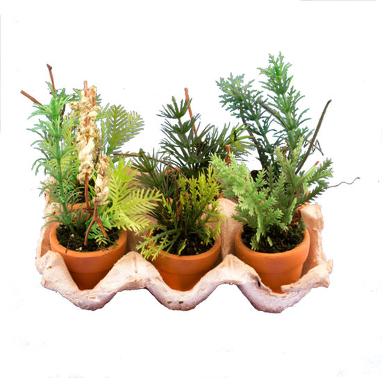 Mini Artificial Potted Herb Garden Plants Artificial Greenery