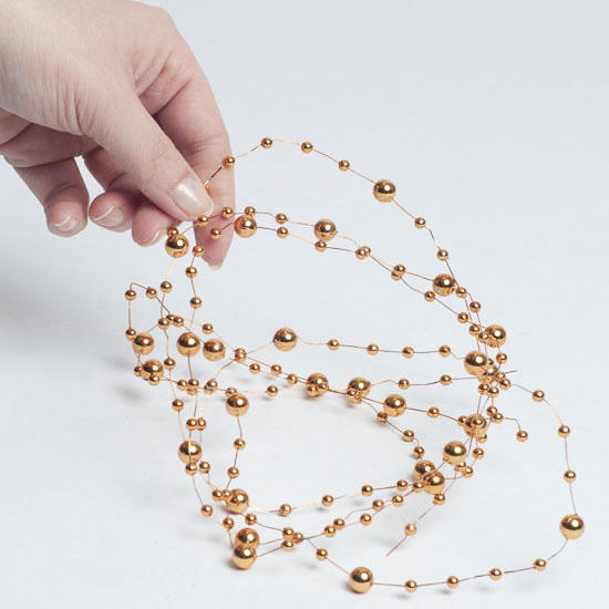 orange beaded wire garland pearl spools basic craft