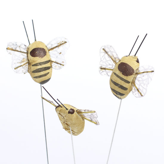 Artificial mushroom bumble bees birds butterflies for Artificial bees for decoration