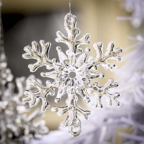 Small Clear Acrylic Snowflake Ornaments - Christmas ...