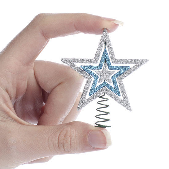 Miniature Glitter Star Tree Topper - Trees and Toppers ...