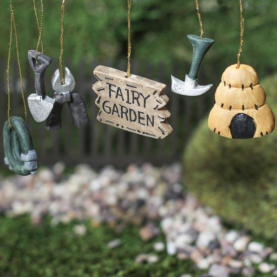 """Gnome Garden: Miniature Resin """"Fairy Garden"""" Ornaments"""