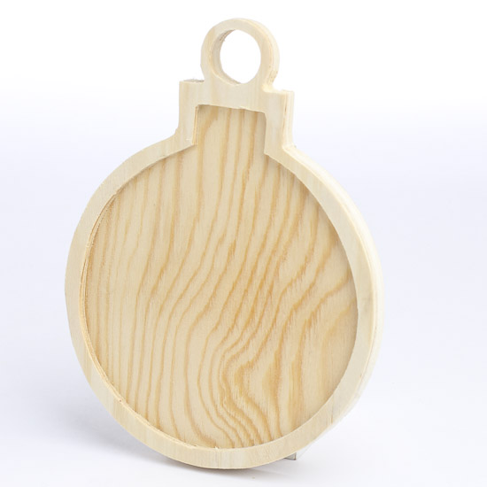 Unfinished wood christmas ornament with inlay wood for Wooden christmas cutouts