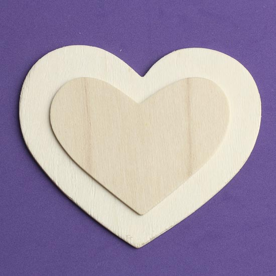 3d unfinished wooden heart wooden hearts unfinished for Wooden hearts for crafts