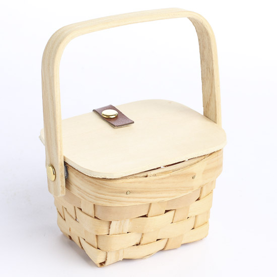 Small Wooden Picnic Basket - Doll Accessories - Doll ...