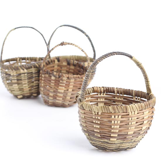 Basket Making Materials Suppliers : Miniature woven market basket what s new dollhouse