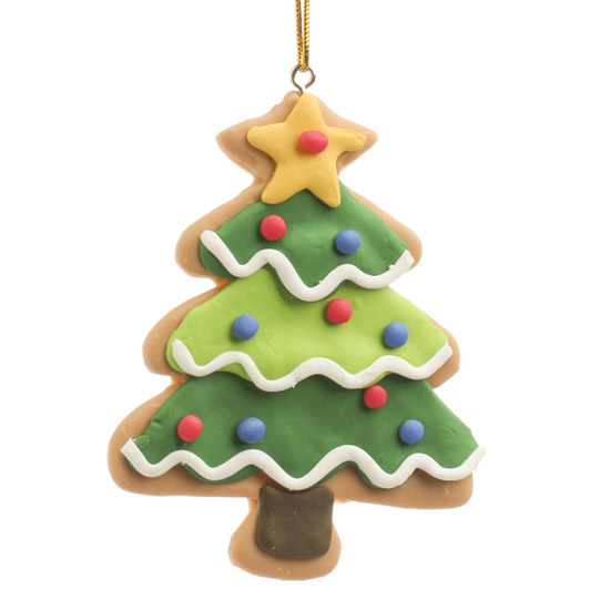 Christmas tree clay ornament and winter sale
