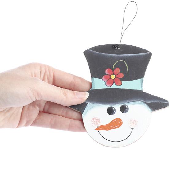 Snowman Head Ornament - Christmas Ornaments
