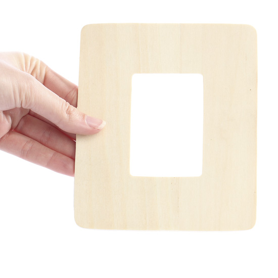 Unfinished wood picture frame cutout kids craft kits for Unfinished wood frames for crafts