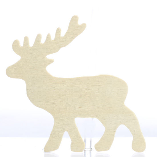 Unfinished Wooden Elk Cutout Holiday Wood Cutouts