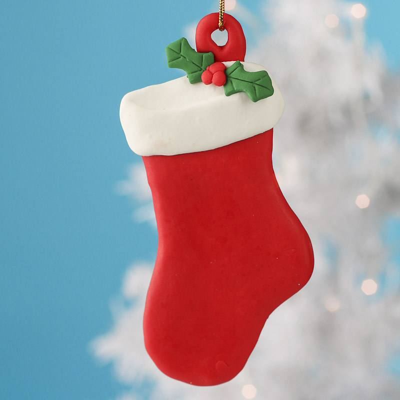 Polymer Clay Stocking Ornament