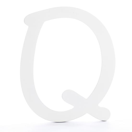 White Brush Font Wood Letter 'Q'