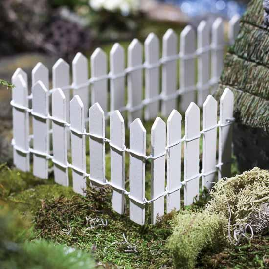 Miniature White Wood Picket Fence What S New Dollhouse