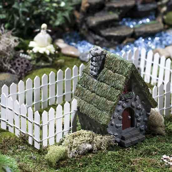Miniature White Wood Picket Fence Fairy Garden Supplies