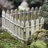 Miniature Natural Wood Picket Fence