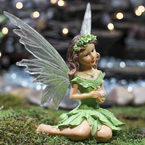 Apple Green Messenger Dove Fairy Fairy Garden Supplies