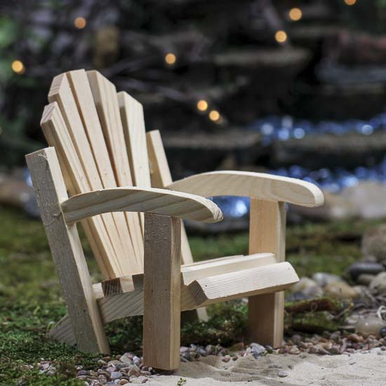Mini Wood Adirondack Chair
