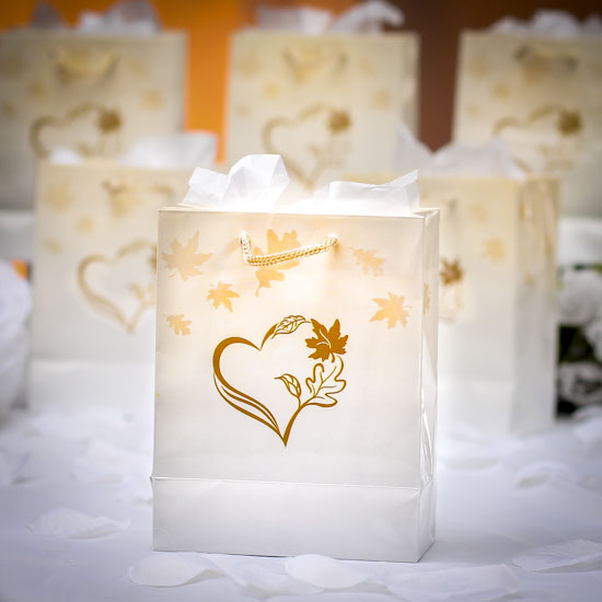 Small Fall Wedding Gift Bags