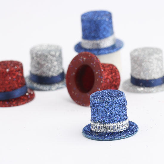 Miniature american party hats doll hats doll making for Tiny top hats for crafts