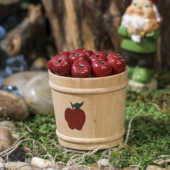 Gnome Garden: Small Wooden Apple Bucket