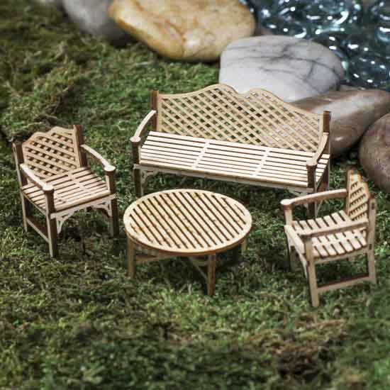 Miniature Patio Furniture Kit