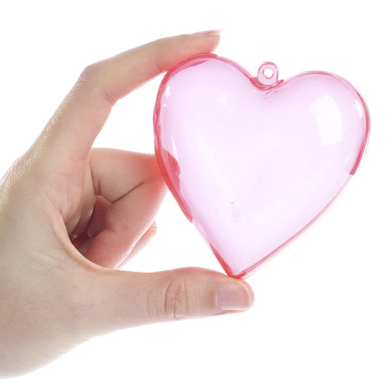 3d Red Heart Acrylic Fillable Ornaments Acrylic Fillable
