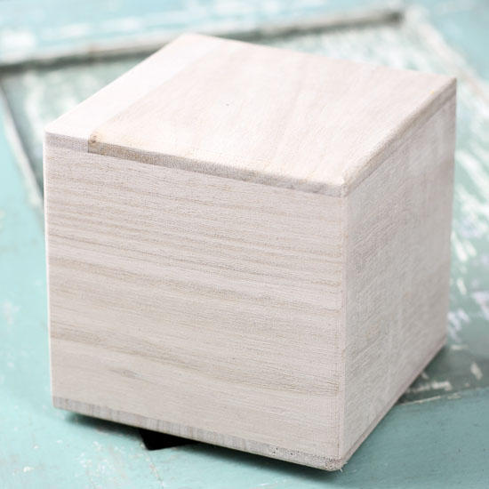 Hollow Unfinished Wood Block Wooden Cubes Unfinished