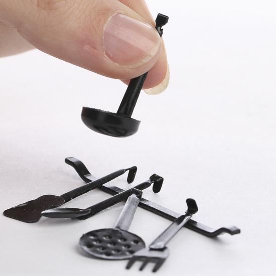 Dollhouse Miniature Hanging Kitchen Utensils Kitchen