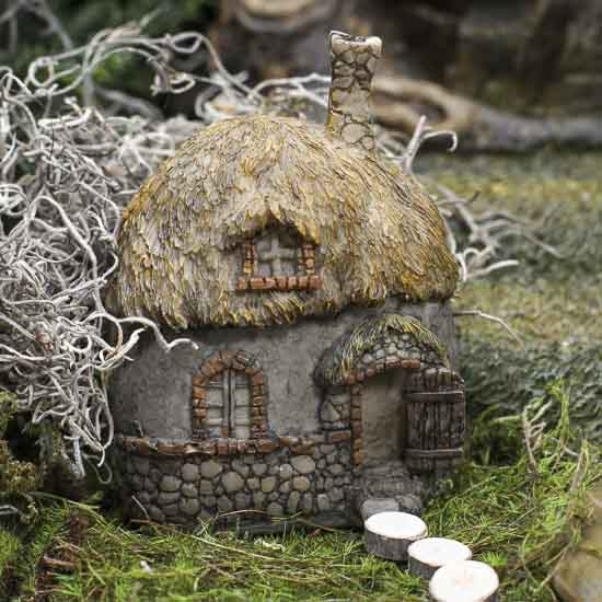 Thatched Roof Fairy Cottage Fairy Garden Miniatures