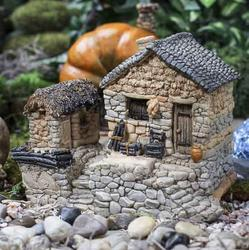 Fairy Garden Stone Cottage With Tool Shed Fairy Garden