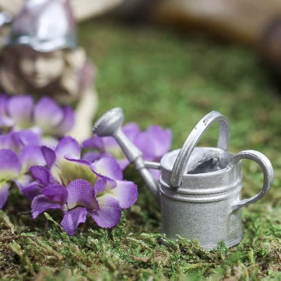 Gnome Garden: Miniature Tin Watering Can