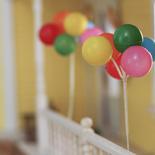 Birthday Faux Balloon Bunch Pick