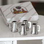 Dollhouse Miniature Pewter Beer Mugs