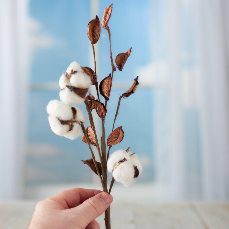 Artificial Cotton Plant Spray