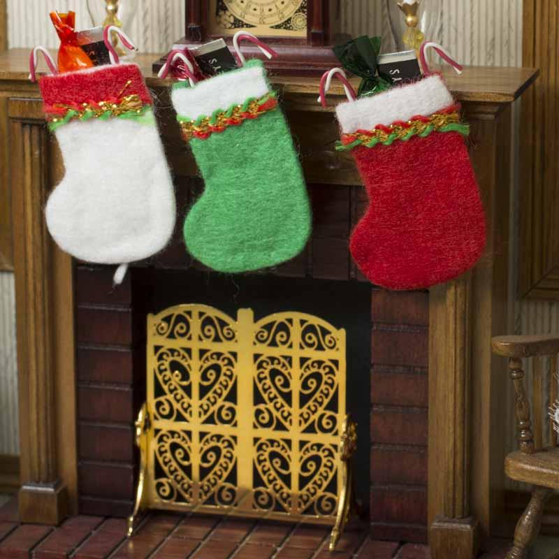 b66309eb630 Miniature Filled Christmas Stocking - Christmas Miniatures ...