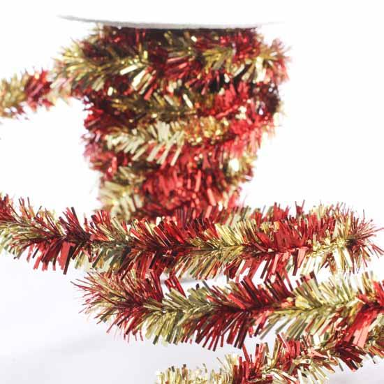item mtx46362rdgd this versatile single strand red and gold twisted tinsel garland
