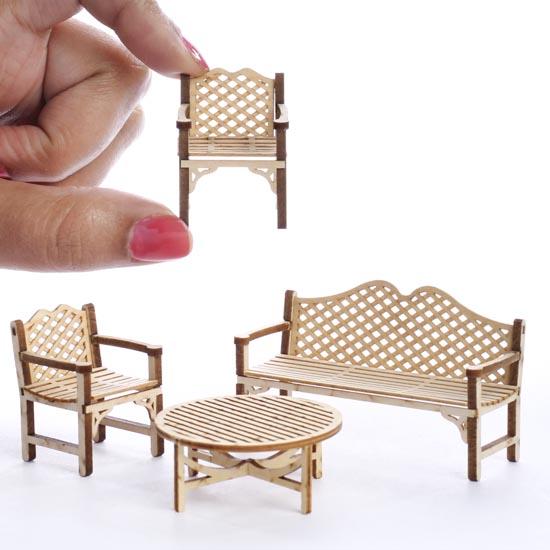 Miniature Patio Furniture Kit What s New Dollhouse