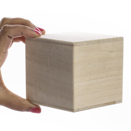 Hollow Unfinished Wood Cube - Wooden Cubes - Unfinished Wood