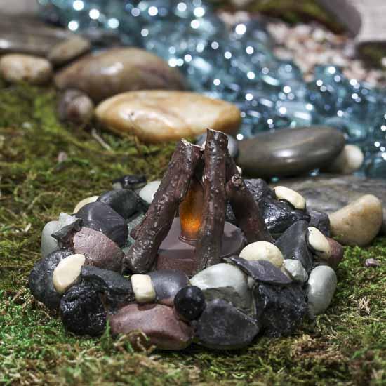 Miniature Campfire Battery Operated Fairy Garden