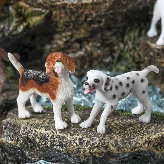 Miniature Plastic Dogs