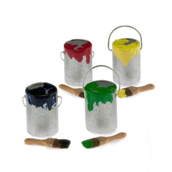 Miniature Paint Can and BrushFairy Garden Miniatures
